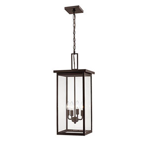 Castor Bronze 11-Inch Four-Light Outdoor Pendant