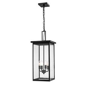 Castor Black 11-Inch Four-Light Outdoor Pendant