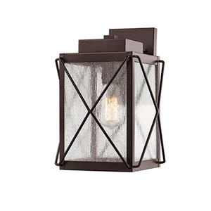 Jackson Bronze Eight-Inch One-Light Outdoor Wall Sconce