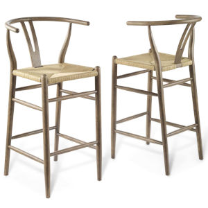 Nicollet Gray 42-Inch Bar Stool, Set of Two