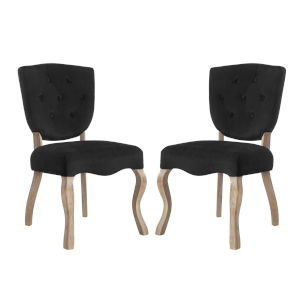 Aster Black 25-Inch Dining Side Chair, Set of Two