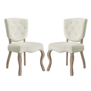 Aster Ivory 25-Inch Dining Side Chair, Set of Two