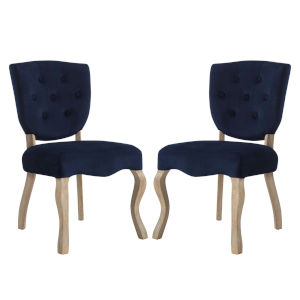Aster Midnight Blue 25-Inch Dining Side Chair, Set of Two