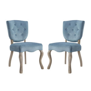 Aster Sea Blue 25-Inch Dining Side Chair, Set of Two