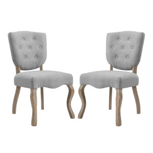 Aster Light Gray 40-Inch Dining Side Chair, Set of Two