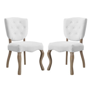 Aster White 40-Inch Dining Side Chair, Set of Two