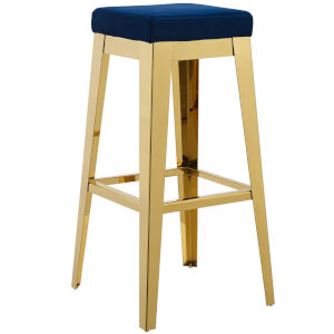 Cooper Gold Navy 31-Inch Bar Stool