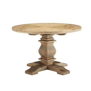 Grace Brown 47-Inch Round Dining Table