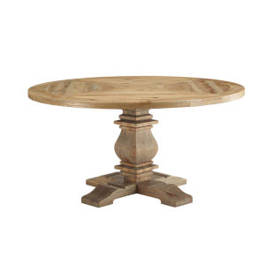 Grace Brown 59-Inch Round Dining Table