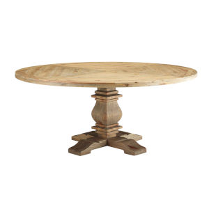 Grace Brown 71-Inch Round Dining Table