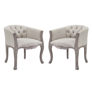 Wellington Beige Armchair, Set of Two