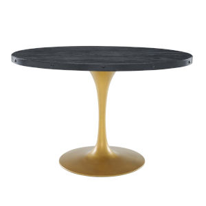 Cooper Black Gold 47-Inch Oval Dining Table