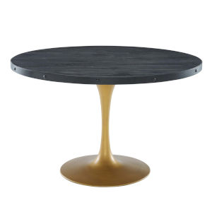 Cooper Black Gold 47-Inch Round Dining Table