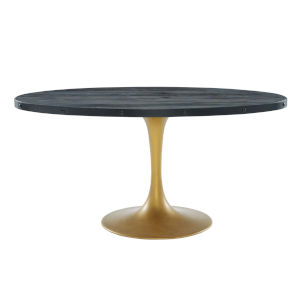 Cooper Black Gold 60-Inch Oval Dining Table