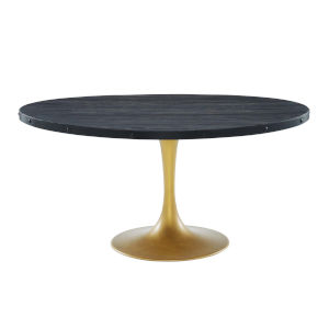 Cooper Black Gold 60-Inch Round Dining Table