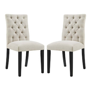 Whittier Beige Fabric Dining Chair, Set of Two