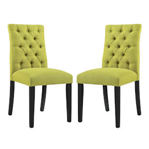 Whittier Wheatgrass Fabric Dining Chair, Set of Two