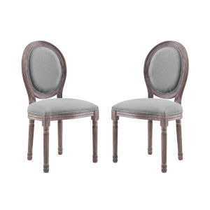 Grace Light Gray 22-Inch Dining Side Chair, Set of Two