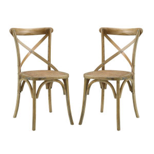 Afton Natural Dining Side Chair, Set of Two