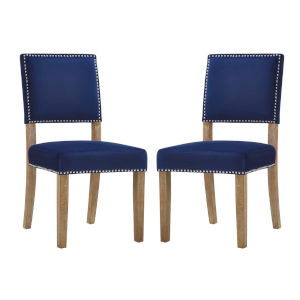 Selby Navy Wood Dining Chair, Set of Two