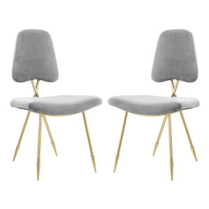 Nicollet Gray 39-Inch Dining Side Chair, Set of Two