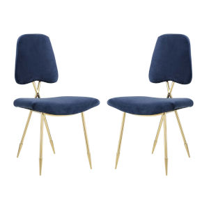 Nicollet Navy Dining Side Chair, Set of Two