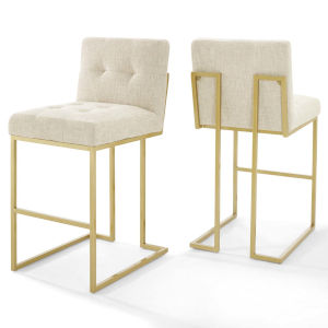 Monroe Gold Beige 40-Inch Bar Stool, Set of Two