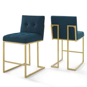 Cooper Gold Azure 46-Inch Upholstered Dining Chair, Set of Two