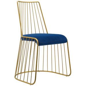 Cooper Gold Navy 22-Inch Velvet Dining Chair
