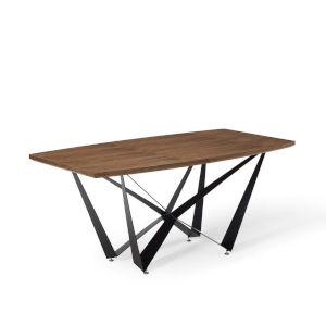 Fulton Walnut 71-Inch Geometrical Dining Table