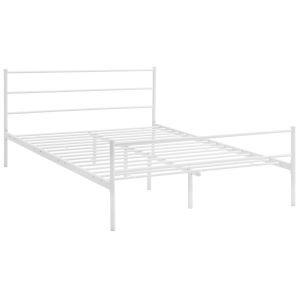Uptown White Queen Platform Bed Frame