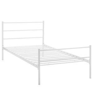 Uptown White Twin Platform Bed Frame