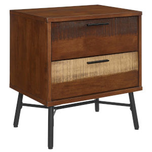 Uptown Walnut Rustic Wood Nightstand