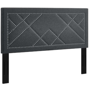 Vivian Gray Nail head King and California King Upholstered Linen Fabric Headboard