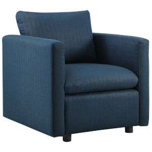 Selby Azure Upholstered Fabric Armchair