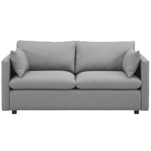 Selby Light Gray Upholstered Fabric Sofa