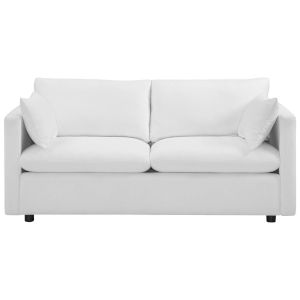 Selby White Upholstered Fabric Sofa