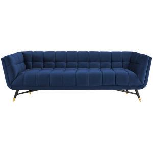 Cooper Midnight Blue Performance Velvet Sofa