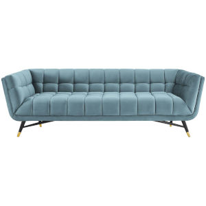 Cooper Sea Blue Performance Velvet Sofa