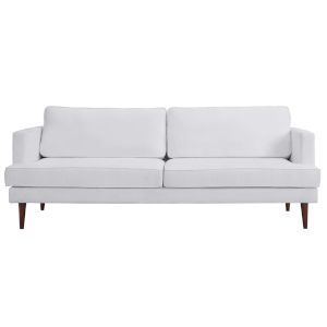 Nicollet White 87-Inch Upholstered Fabric Sofa