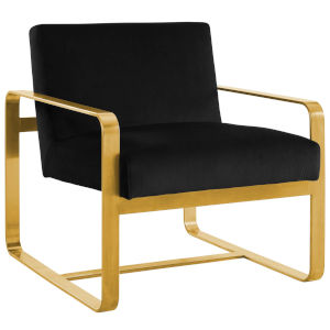 Cooper Black Performance Velvet Armchair