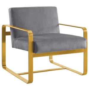 Cooper Gray Performance Velvet Armchair