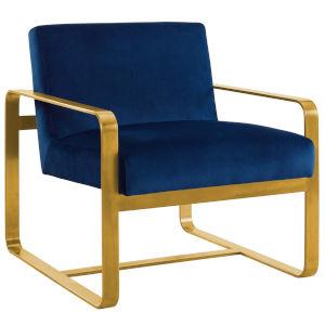 Cooper Navy Performance Velvet Armchair