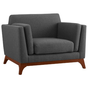 Nicollet Gray Upholstered Fabric Armchair