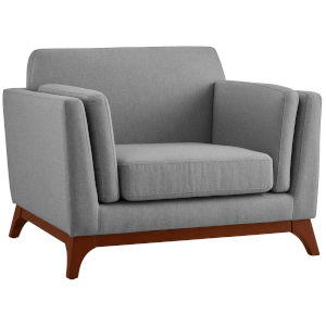 Nicollet Light Gray Upholstered Fabric Armchair