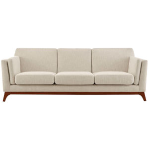 Nicollet Beige 84-Inch Upholstered Fabric Sofa