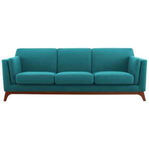 Nicollet Teal 84-Inch Upholstered Fabric Sofa
