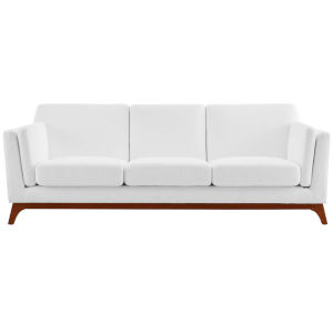Nicollet White Upholstered Fabric Sofa