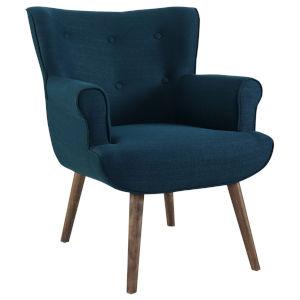 Monroe Azure Upholstered Armchair