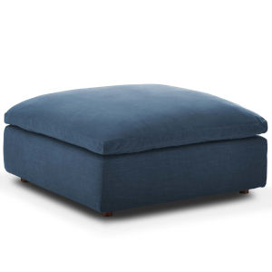 Selby Azure Down Filled Overstuffed Ottoman